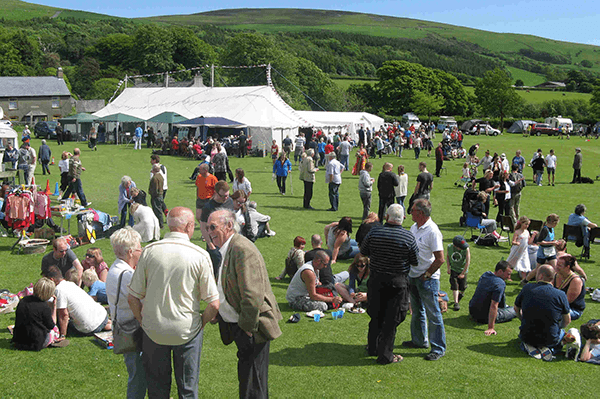 Crowds gathered on the Kirkby Community Centre Playing fields for the The Queen's Diamond Jubilee Gala Day 2012