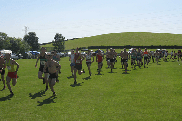 Runners competing in the Gala Day Seniors Fell Race 2013