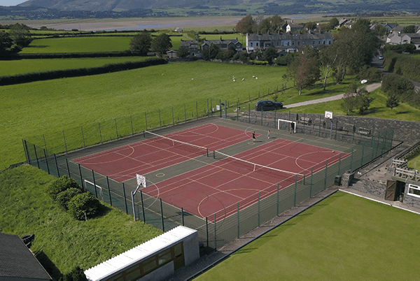 View of Kirkby Community Centre tennis courts from above