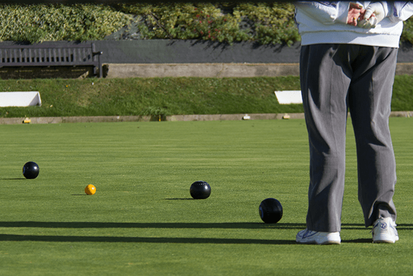 Kirkby Sporting Club playing bowls on the bowling green